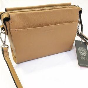 NWT Vince Camuto Oak Leather Crossbody